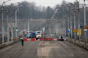 В Могилеве из-за трещины закрыли мост через Днепр