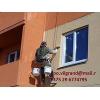 Покраска фасадов способом промышленного альпинизма