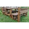 Набор Дубовой мебели «Вечный» (стол 2 скамьи с регулируемыми спинками)
